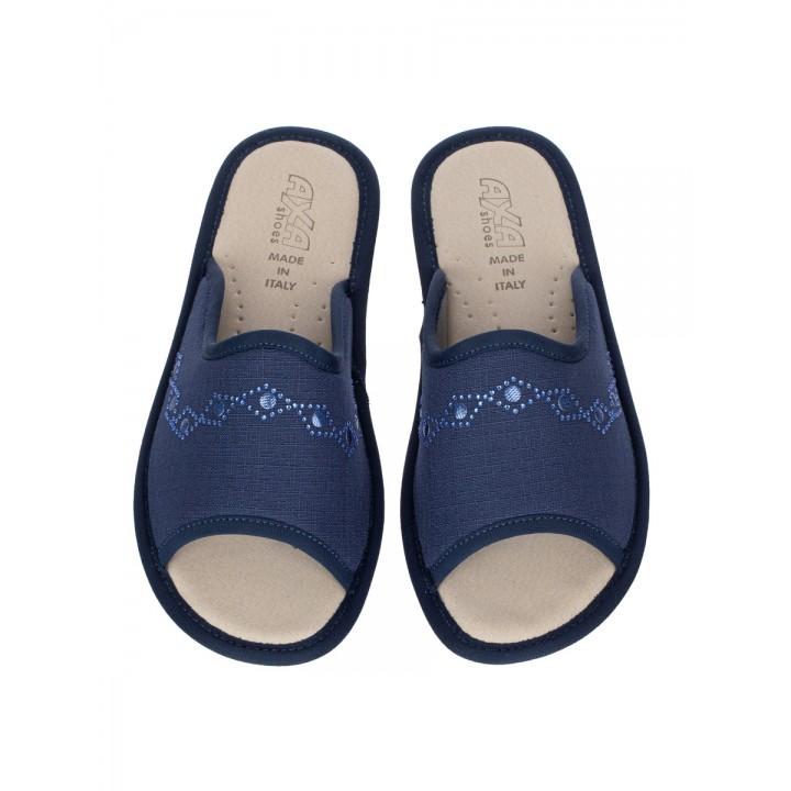 Домашние женские тапочки AXA Ornamento Colorato Blue