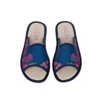 Домашние женские тапочки AXA Stampa Floreale Blue