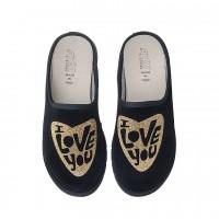 Домашняя женская обувь AXA Amore Nero