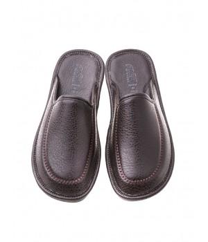 Домашние мужские тапочки AXA Punto Morbido темно-коричневые