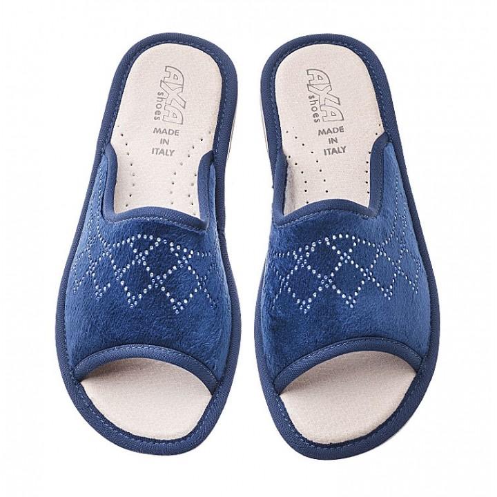 Домашние женские тапочки AXA Disegno Reale Blue