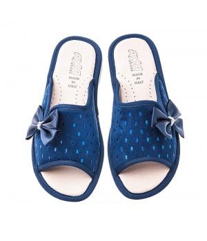 Домашние женские тапочки AXA  Fiocco Elegante Blue