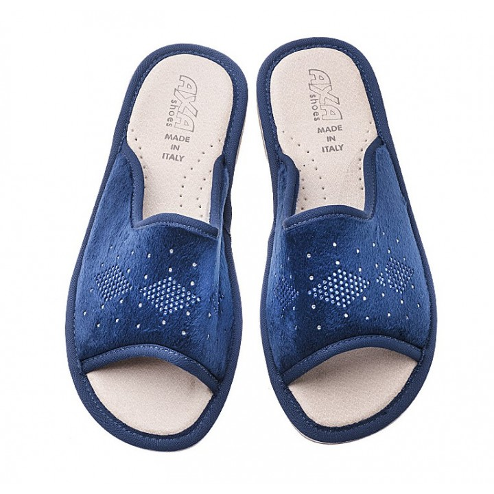 Домашние женские тапочки AXA Forma di Diamante Blue