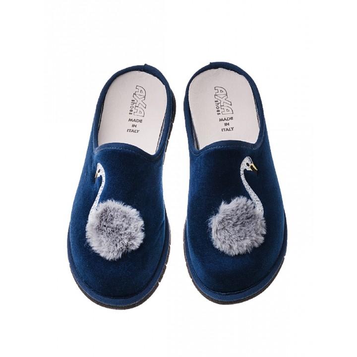Домашние женские тапочки AXA Lago Dei Cigni Blue
