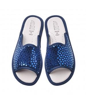 Домашние женские тапочки AXA Scintillio Alla Moda Blue