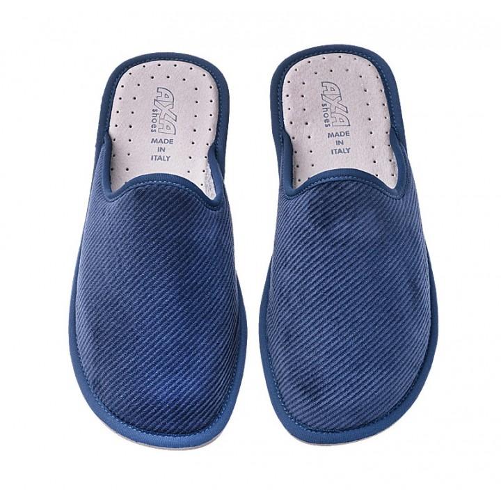 Мужские домашние тапочки AXA Nobile Velluto a Coste Blue
