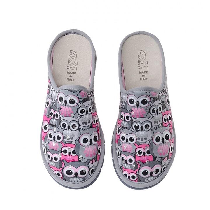 Домашняя женская обувь AXA Gufi Grigio