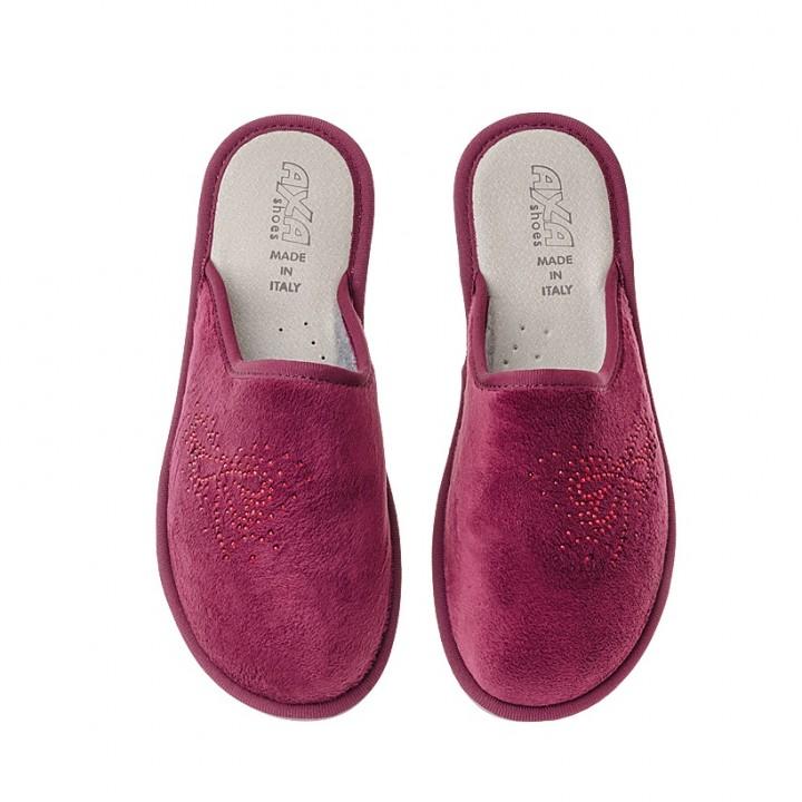 Домашняя женская обувь AXA Insetto Bordo