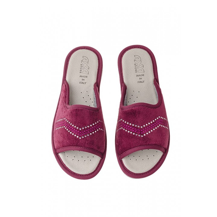 Домашняя женская обувь AXA Spezzata Bordo