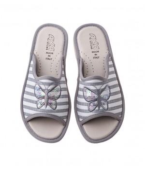 Домашняя женская обувь AXA Farfalla In Madreperla Grigio