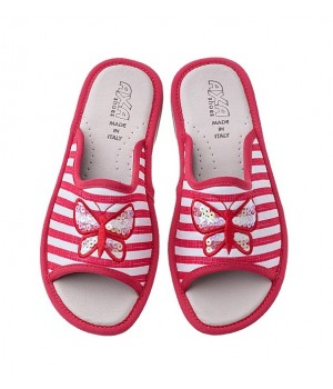 Домашняя женская обувь AXA Farfalla In Madreperla Rosso