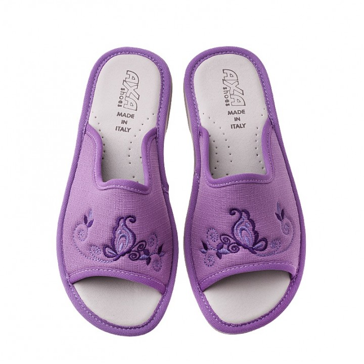 Домашняя женская обувь AXA Farfalla Sul Fiore Lilla