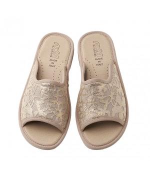 Домашняя женская обувь AXA Fiori Applique Beige