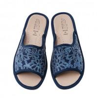 Домашняя женская обувь AXA Fiori Applique Blue