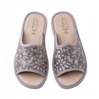 Домашняя женская обувь AXA Fiori Applique Grigio