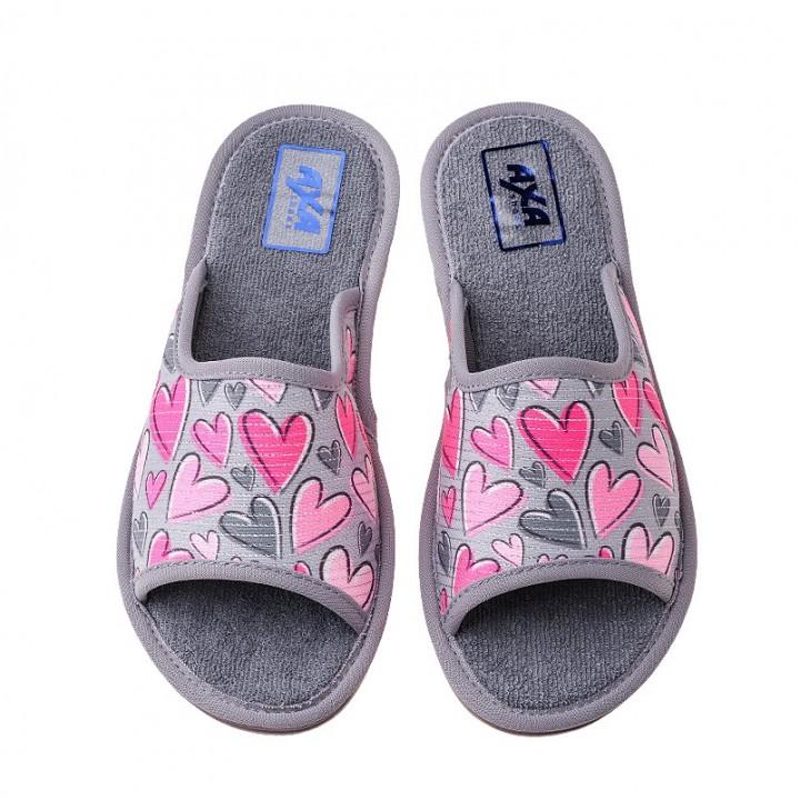 Домашняя женская обувь AXA Molti Cuori Grigio