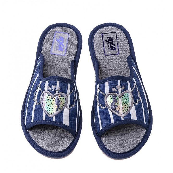 Домашняя женская обувь AXA Piedi Rromantici Blue