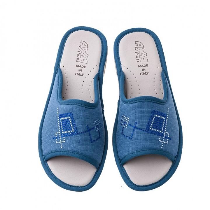 Домашняя женская обувь AXA Quadrati Colorati Avion