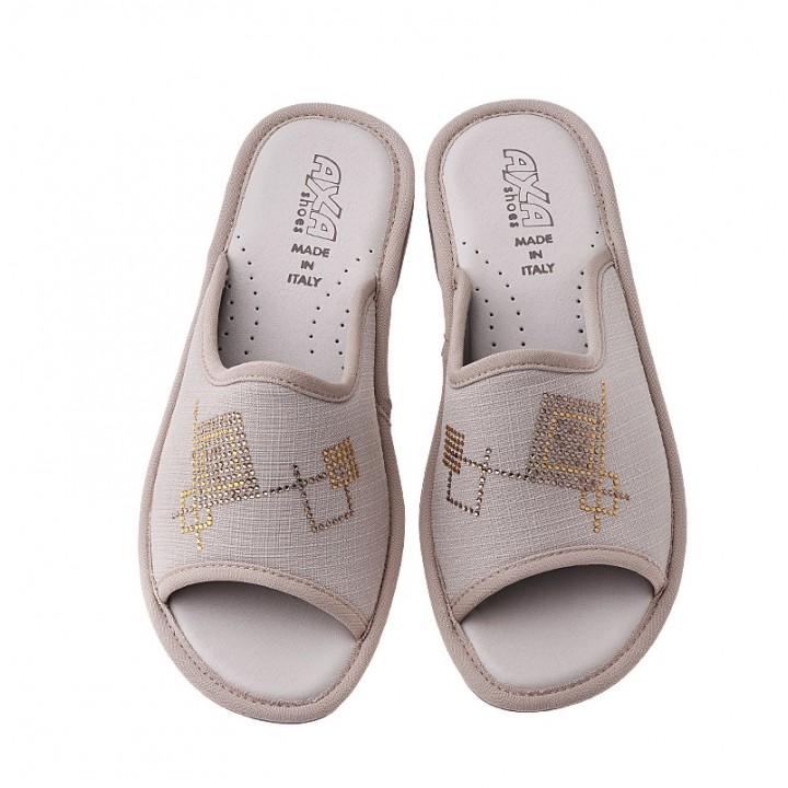 Домашняя женская обувь AXA Quadrati Colorati Beige