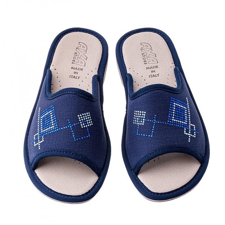 Домашняя женская обувь AXA Quadrati Colorati Blue