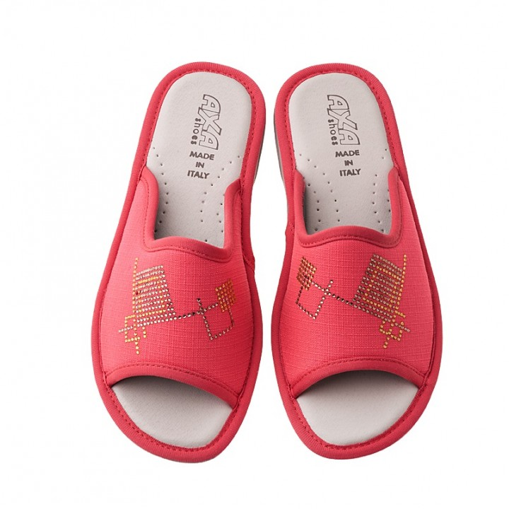 Домашняя женская обувь AXA Quadrati Colorati Corallo