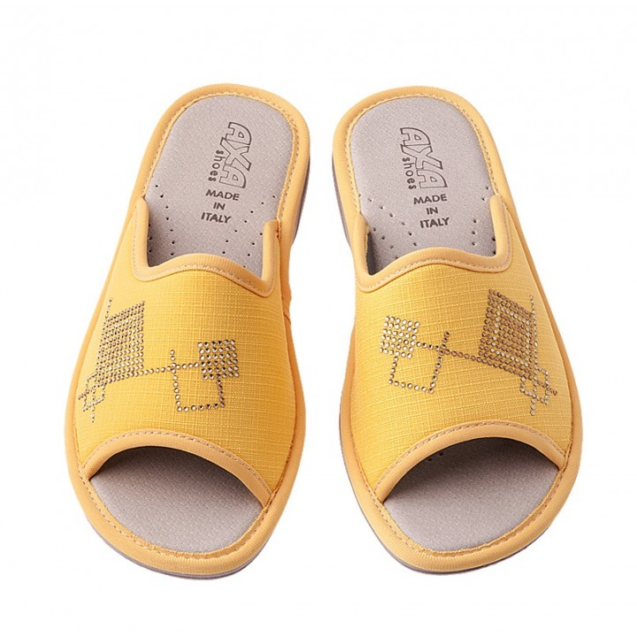 Домашняя женская обувь AXA Quadrati Colorati Giallo