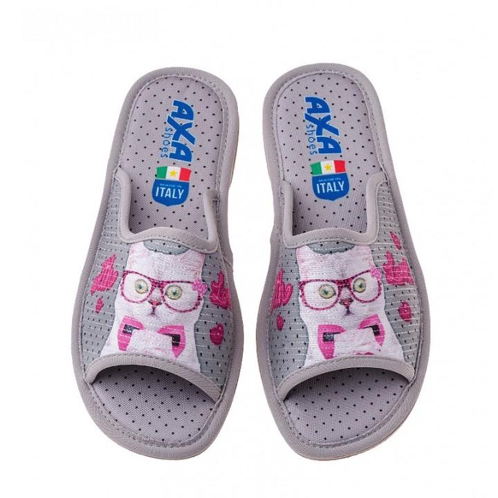 Домашняя женская обувь AXA With Love Grigio